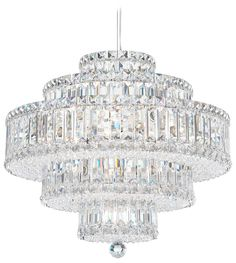 Buy the Schonbek Stainless Steel Direct. Shop for the Schonbek Stainless Steel Wide 22 Light Pendant from the Plaza Collection and save. Silver Chandelier, Pendant Chandelier, Chandelier Lighting, Crystal Chandeliers, Chandelier Creative, Chandelier Makeover, Crystal Lights, Bedroom Lighting, Schonbek Lighting