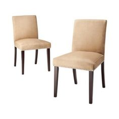 Uptown Parson Nailhead Dining Chairs - Set of 2 - Cappuccino