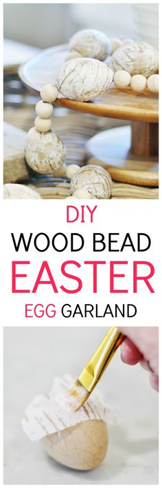 Looking for simple Easter DIY crafts? Here are step-by-step instructions for this simple project you can make with Easter eggs, wood beads and jute twine. Diy Home Decor Projects, Easy Projects, Decor Crafts, Diy Crafts, Crafty Projects, Spring Home Decor, Spring Crafts, Easter Cross, Diy Easter Decorations