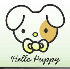 kitty is for girls, puppy is for boys :)  Adding to my Hello Kitty obsession collection :P