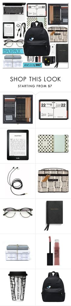 """""""In my backpack"""" by dolly-valkyrie ❤ liked on Polyvore featuring interior, interiors, interior design, home, home decor, interior decorating, AT-A-GLANCE, Kate Spade, Petunia Pickle Bottom and Smythson"""