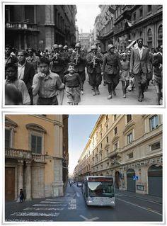 Banda dell'Esercito Italiano in Via del Tritone  dopo la liberazione di Roma  #Giugno1944