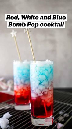 Bomb Pop Drink, Blue Alcoholic Drinks, Blue Drinks, Blue Cocktails, Fourth Of July Drinks, July 4th, Raspberry Vodka, Alcohol Drink Recipes, Fun Drinks Alcohol