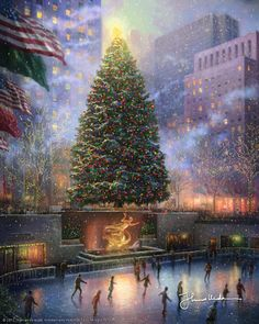 Thomas Kinkade - Christmas in New York  2008