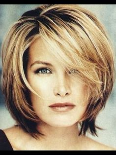 Perfect choppy layered bob, frames the face beautifully...