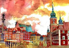 Colorful Watercolor Paintings by Maja Wronska  Graduated from the architecture university of Warsaw and passionate about drawing the Polish artist Maja Wronska creates numerous watercolor paintings. As she mainly draws her inspiration from architecture her works mostly represent incredibly detailed buildings but also other themes.             #xemtvhay
