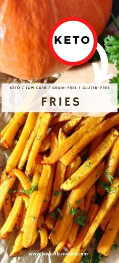 Pumpkin Fries gives you the feeling of the real fries or wedges you have been craving for, for a long time. Easy, Fast and Tasty. Learn how to bake pumpkin in the oven and how long to bake fries to get them extra delicious, with the same taste as sweet potato fries and of course fully Low Carb and perfect replacement for Diabetics.