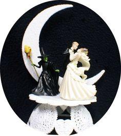 Wizard of Oz wedding cake topper