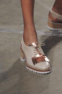 The 50 Best Shoes at NY Fashion Week | StyleCaster BOSS BY HUGO BOSS: Ankle-strap sandals are having a huge moment, and this was one of our favorite pairs. Read more: http://stylecaster.com/the-50-best-shoes-new-york-fashion-week-spring-2015/#ixzz3DAcTkqCu
