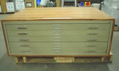 Metal 5 drawer Blue print, map, flat file, cabinet - Pick-up- 60 day warranty #SAFCO