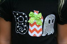 BOO Halloween Shirt Halloween Shirt by AnneMaddoxBoutique on Etsy