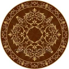 Click to see a larger image for Rembrandt custom floor medallion, inlay, border or parquet.