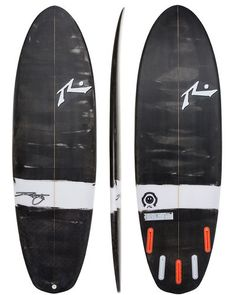 RUSTY HAPPY SHOVEL SURFBOARD - BLACK WHITE