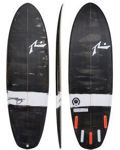 RUSTY HAPPY SHOVEL SURFBOARD - BLACK WHITE