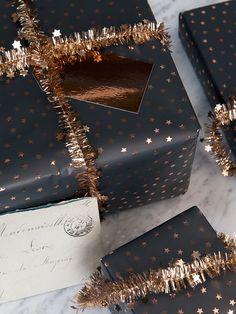 NEW Copper Stars Micro Tinsel - Wrap - Christmas