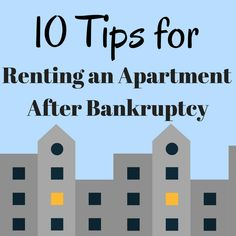 10 Tips for Renting an Apartment After Bankruptcy - Renting an apartment after a bankruptcy can be a challenge, but it's not impossible. If you're concerned about finding a place after bankruptcy, here are 10 tips that will make your search easier. 6 Word Memoirs, National Debt Relief, Coolers For Sale, Debt Relief Companies, Rebuilding Credit, How To Plan, Renting, Challenge, Search
