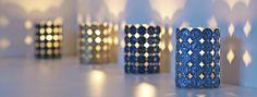 Lighting design between Switzerland and Spain: Leuchten and Woodamp - Polpettas Mag Bijoux Fil Aluminium, Diy Accessoires, Creation Deco, Repurposed Items, Coffee Pods, Recycled Crafts, Lighting Design, Christmas Diy, Upcycle