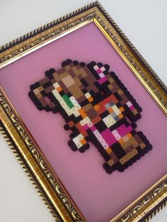 Framed Final Fantasy 7 Aerith by JustALevel on Etsy, $9.00