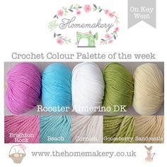 crochet colour palette of the week