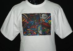 Tshirt Casual Free shipping  TRIPPIN White Graphic by Zedezign, $22.00