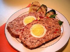 "For Recipe: CLICK on PIC and when taken to 2nd pic click again....Crazy Egg Meatloaf...     ...Recipe by George Stella...  ...For tons more Low Carb recipes visit us at ""Low Carbing Among Friends"" on Facebook"