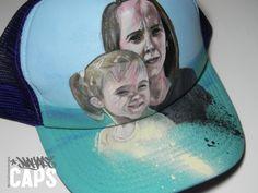 Portraits in the beach cap