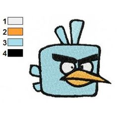 IceBird Angry Birds Space Embroidery Design
