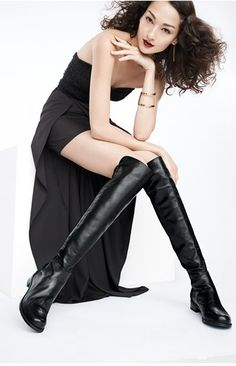 Timeless style tips on How to wear Over-the-Knee Boots…without looking like you stepped in a hole