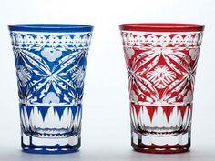 江戸切子 Art Of Glass, Cut Glass, Visit Japan, Faceted Glass, Japanese Culture, Colored Glass, Traditional Art, Glass Bottles, Mosaic