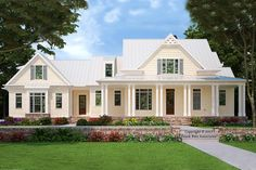 Find your dream modern-farmhouse style house plan such as Plan which is a 2993 sq ft, 4 bed, 3 bath home with 3 garage stalls from Monster House Plans. Low Country Homes, Country House Plans, Dream House Plans, Dream Houses, Country Houses, Unique House Plans, Coastal House Plans, Southern Living House Plans, Cat Houses