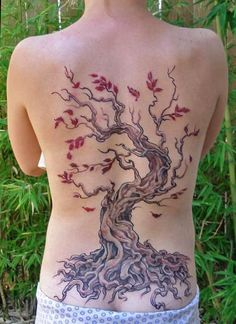 Full Art Back Tree Tattoo- stunning