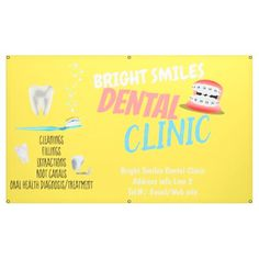 #Dentist Dental Clinic Promotional Banner - #office #gifts #giftideas #business