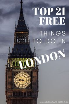 Want to visit one of the worlds best cities on a budget? Heres my list of the 21 best things to do in London that wont cost you a penny... the locals love them and you will too. | #london #england #travel