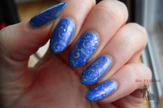 Sneak peek of an upcoming Mrs. P's Potion with stamping using Color Club Halo Hues Blue Heaven and Pueen plate 73:  http://fabulouslifeofmrsp.blogspot.ca/2015/01/color-club-blue-heaven-floral-stamping.html