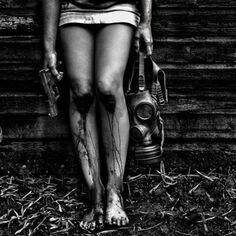 Gas mask legs
