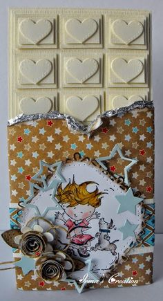 Freeze Frame Don en Daisy Design folder Extra Stars Chineese Roos Square and flower stitch Box of Chocolates Chocolate Card, Folder Design, Marianne Design, Scrapbooking, Candyland, Paper Crafting, Making Ideas, Wedding Cards, Cardmaking