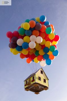 National Geographic launched a real flying balloon house near LA