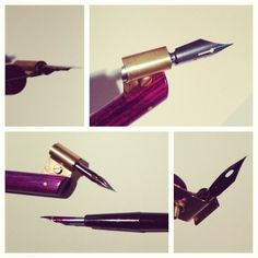 An oblique crowquill holder for calligraphers, architects, and pen and ink artists! by SKDZ Calligraphy
