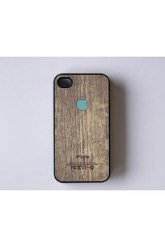 e357d88240fc BlissfulCASE Apple Logo On Wood Print iPhone 4 Case Iphone 9