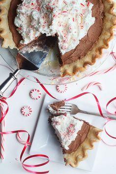 Peppermint French Silk Pie
