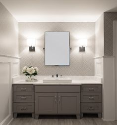 Stenciled Powder Room - traditional - powder room - new york - by Cory Connor Designs
