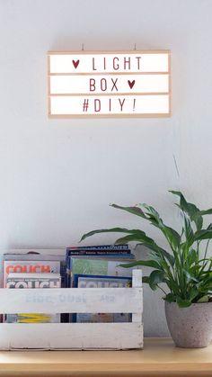 DIY-Anleitung für deine eigene Lightbox. DIY, Lichtbox, Lampe, Home, Interior, Dekoration, Interieur, Holz, Craft, Selber machen, Skandi, Design Letter