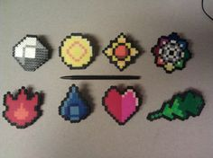 Perler Pokemon badges