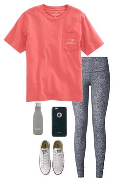 Vineyard vines, converse, s'well and moshi lazy outfits, sporty outfit Cute Outfits With Leggings, Cute Lazy Outfits, Teenage Girl Outfits, Cute Outfits For School, Teen Fashion Outfits, Sporty Outfits, Teenager Outfits, Athletic Outfits, College Outfits