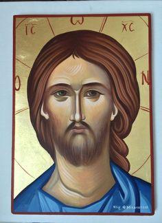 Jesus Christ - handpainted Greek Christian Orthodox byzantine icon 22 karat gold  | eBay Byzantine Icons, Orthodox Icons, Jesus Christ, Christian, Hand Painted, Ebay, Gold, Collection, Art