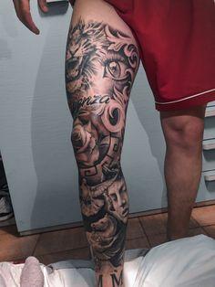 Full Hand Tattoo, Full Leg Tattoos, Half Sleeve Tattoos For Guys, Leg Tattoos Women, Girl Back Tattoos, Cool Chest Tattoos, Military Sleeve Tattoo, Leg Sleeve Tattoo, Best Sleeve Tattoos