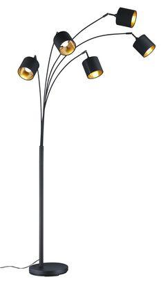 Bogenleuchte 5-flammig Schwarz & Goldfarben finden Stock Analysis, Dont Settle, The Borrowers, Modern, Design, Home Decor, Interior Inspiration, Colors, Black