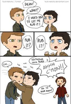 Cas, Dean, and Sam