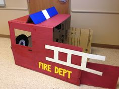 DIY Fire Truck for Firefighter birthday party!!!