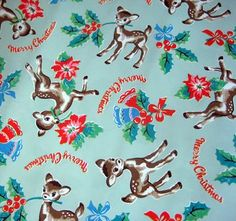 Vintage Christmas Images, Retro Christmas, Vintage Holiday, Little Christmas, Christmas Ideas, Xmas, Cath Kidston Quilt, Cath Kidston Patterns, Vintage Wrapping Paper